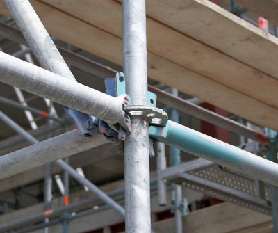 Scaffolding at worksite