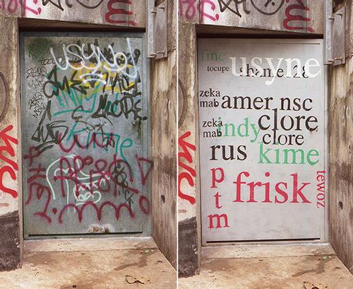 Tag Cloud piece, Nantes, France