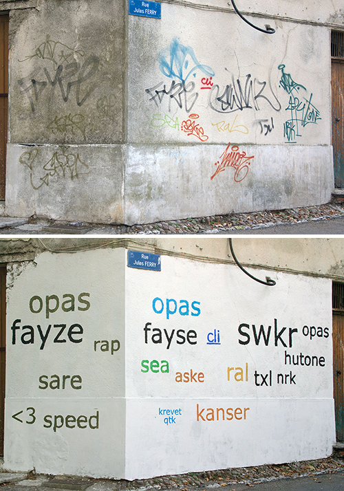 Tag Clouds piece, Jules Ferry, France