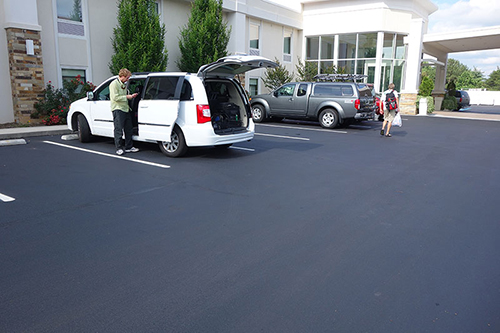 newley sealcoated parking lot