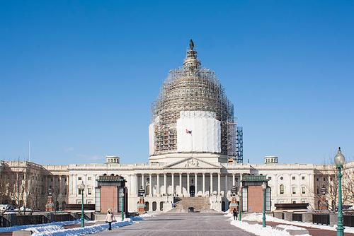 US Capitol under renovation
