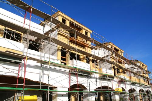 Commercial construction site
