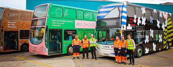 HMG Arriva buses and team