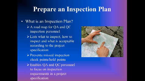 Inspection video