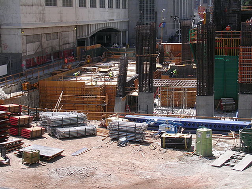 Millennium Tower construction site