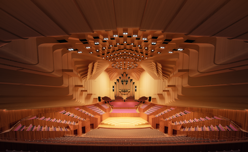 Opera house interior rendering