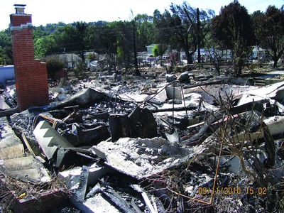 Explosion aftermath