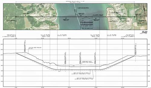 Sacagawea pipeline passing under Lake Sakakawea