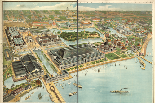 World's Fair 1893 bird's-eye view