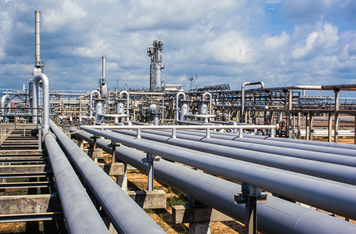gas plant piping