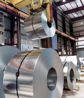 coils of coated steel