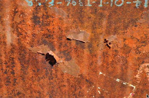coating remnants, tank floor