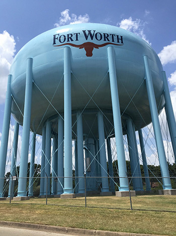 Fort Worth water tank