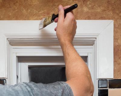 Painting interior trim work