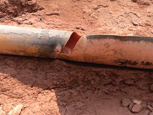 Ruptured pipe
