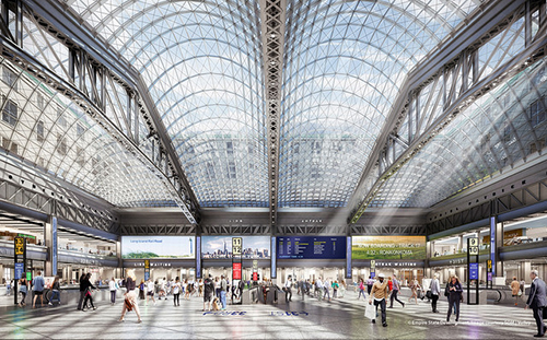 Moynihan Train Hall rendering