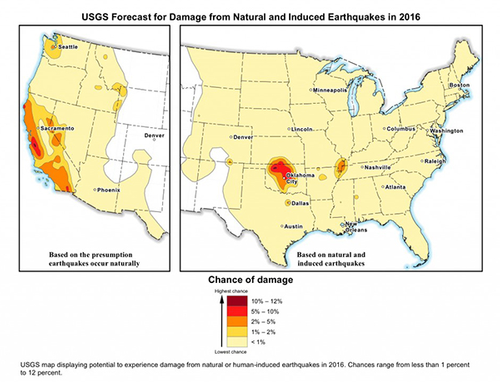 USGS 2016 earthquake forecast