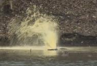 Paint 'Geyser' Raises River Fear
