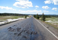 Heat Turns Yellowstone Road to 'Soup'