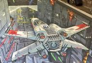 3D Death Star Art Painted Under Bridge
