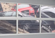 Roof Collapse Smashes Luxury Cars