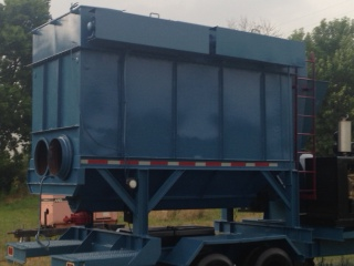 20000 cfm dust collector, 4 outlet ADI steel grit recycler (excellent condition) for sale or rent