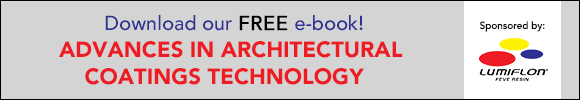 Download our FREE e-book! Advances in Architectural Coatings Technology
