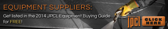 Equipment Suppliers: Get listed in the 2014 JPCL Equipment Buying Guide for FREE!