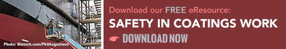 Download our free eResource: Safety in Coatings Work.