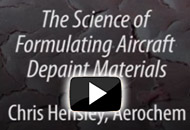 The Science of Formulating Aircraft Depaint Materials
