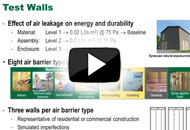 Energy Performance of Air Barrier Systems